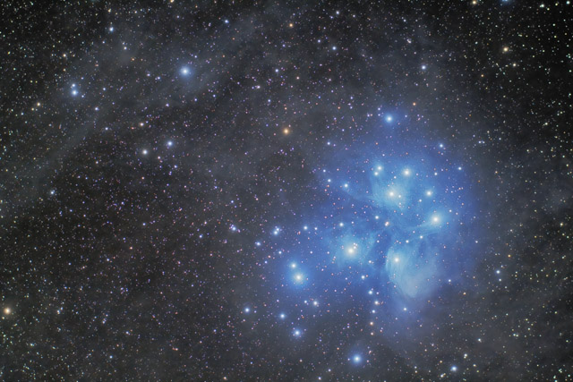 M45 using DSLR-LLRGB Style Processing