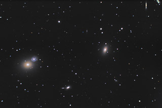 M59 and M60 - Galaxies within the Virgo Cluster