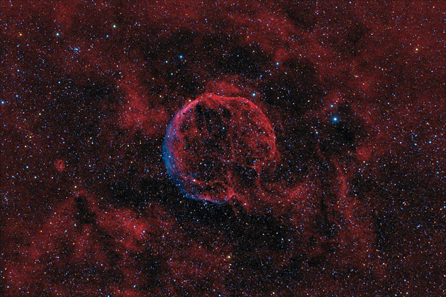 SUPERCEDED - NEWER VERSION AVAILABLE - CTB1- A Supernova Remnant in Cassiopeia (HaOIIIRGB Version)