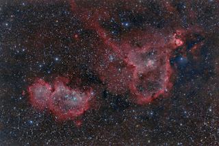 The Heart and Soul Nebulae in HaRGB