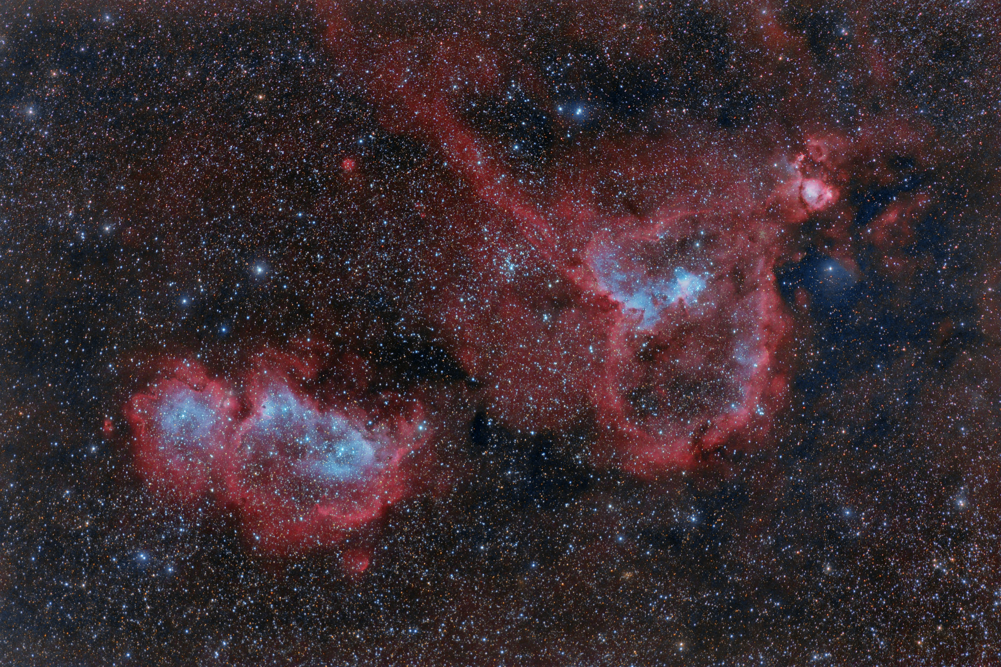 Astronomers Do It In The Dark - The Heart and Soul Nebulae ...