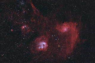 The Tadpoles, Flaming Star, Spider and Fly (IC410, IC405, IC417 and NGC1931) HaOIIIRGB