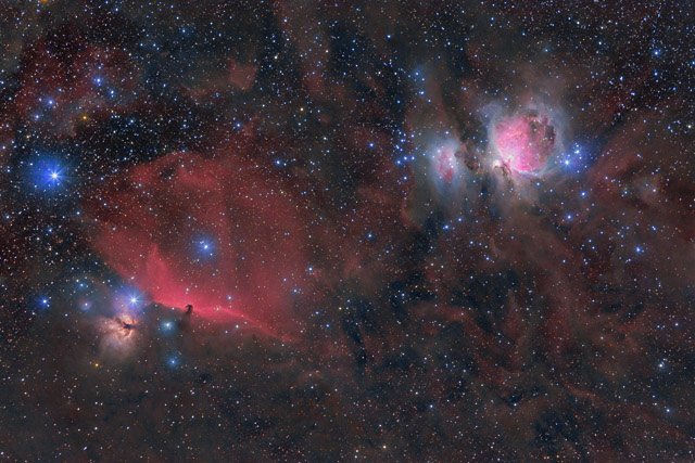 M42 and the Horsehead Nebula in HaRGB