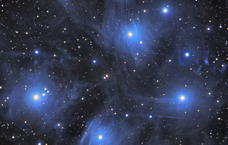 M45 - The Pleiades Open Cluster in Taurus