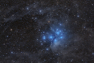 M45 - The Pleiades by Valerie Rosen
