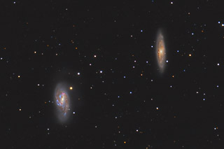 M65 and M66 - 2 galaxies of the Leo Trio