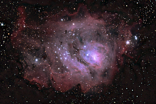 SUPERCEDED-NEWER VERSION AVAILABLE---M8 - The Lagoon Nebula in Sagittarius, August 2011 version