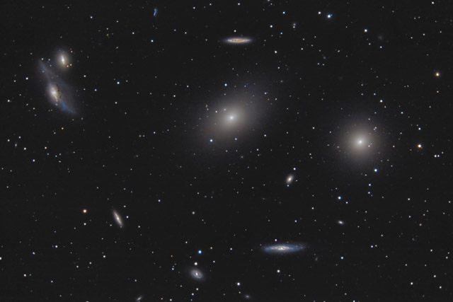 M84 and M86 Section of Virgo Galaxy Cluster