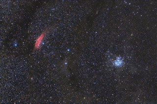 The California Nebula and the Pleiades