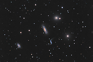 Hickson 44 -  A Compact Galaxy Group in Leo