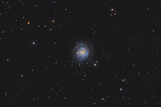 NGC 3344 - A Face-on Barred Spiral Galaxy in Leo Minor