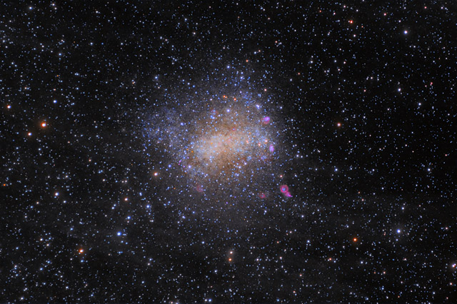 NGC 6822 - Barnard's Galaxy in HaLRGB and the surrounding IFN