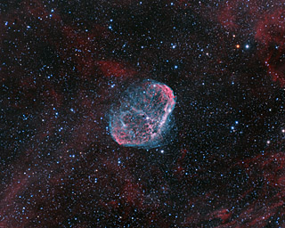 NGC 6888 - The Crescent Nebula in Cygnus (QSI Version)
