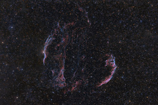 The Veil Nebula Complex in HaOIIIRGB