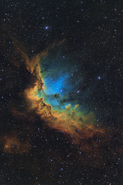 NGC 7380 - the Wizard Nebula in SHOLRGB Hubble Palette