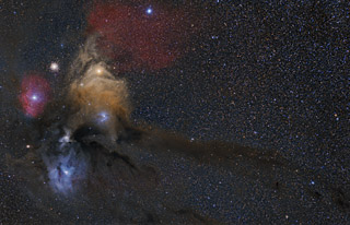 The Rho Ophiuchi Nebulae and the Dark River in HaRGB